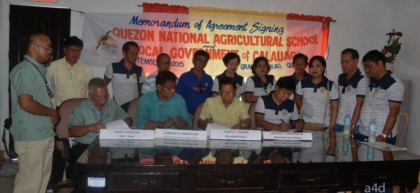 QNAS Signs MOA with LGU-Calauag